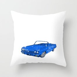 Respect The Elders Unique Illustration Of A Muscle Car T-shirt Design Made Perfectly For Car Racers! Throw Pillow