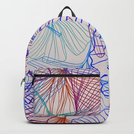 Ginkgo Leaves in Retro Rainbow Backpack