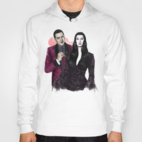 selena gomez Hoodies featuring Gomez & Morticia by Myrtle Quillamor