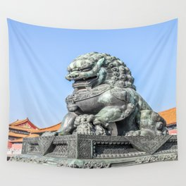 Imperial Guardian Lion, Beijing Wall Tapestry