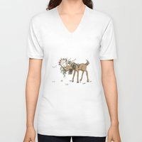 thranduil V-neck T-shirts featuring Baby Thranduil and Elk by Rshido