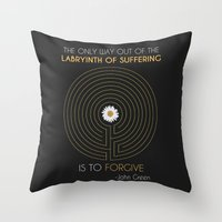 looking for alaska Throw Pillows featuring Looking For Alaska by Dani Aviles
