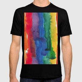 rainbow watercolor T-shirt