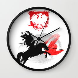 Polish Hussar Polska Husaria Wall Clock