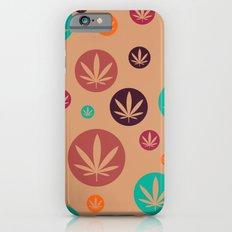 GGDUB - Burnt Orange Weed Leaf Textile~  Slim Case iPhone 6s