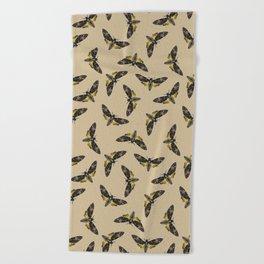 Death's-head hawkmoth Beach Towel