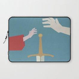 The sword in the stone, minimalist movie poster, animated film, King Arthur, Merlin, retro playbill Laptop Sleeve