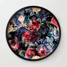 Botanic Pattern Wall Clock