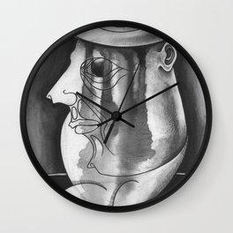 Parásito con sombrero de Jean Michel Basquiat Wall Clock