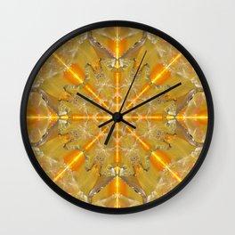 Gold Opal Star Mandala Wall Clock