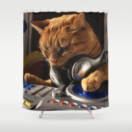 DJ Cat Shower Curtain