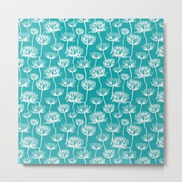 Seamless Lotus pattern design Metal Print