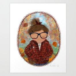 So Basic (a selfie of sorts) Art Print