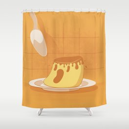 """""""Who Killed Mr. Pudin?!"""" Shower Curtain"""