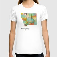 montana T-shirts featuring Montana state map  by bri.buckley