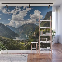 Geiranger Fjord Norway Mountains Wall Mural