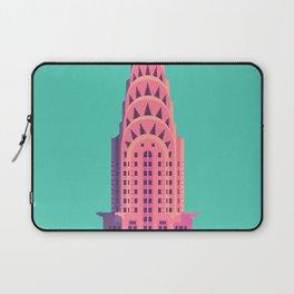 Chrysler Building New York Art Deco - Green Laptop Sleeve