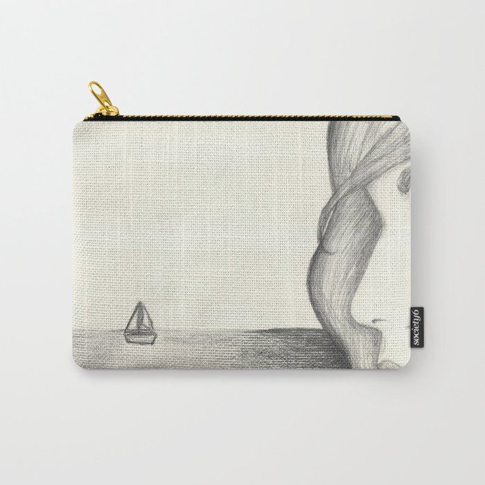 Away at Sea Carry-All Pouch