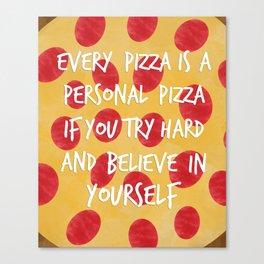 Inspirational Pizza Canvas Print