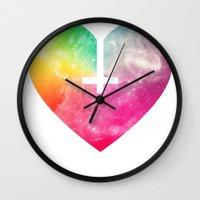 satan Wall Clocks featuring Satan needs love too by Katie Halliday