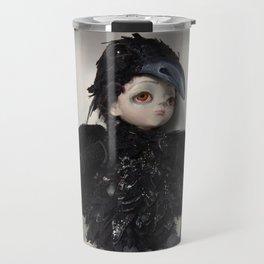 the little crow girl Travel Mug