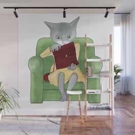 1012 Knitting Cat - Dropped Stitch Wall Mural
