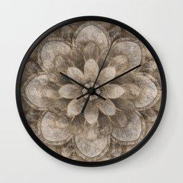 Lotus Mandala - pastel gold Wall Clock
