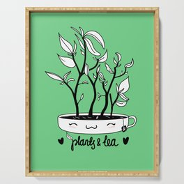 Plants and Tea Serving Tray