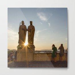 Sunset of Kings in Lake Balaton Metal Print