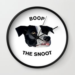 Boop The Snoot Wall Clock