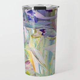 Abstracted Spring Iris Travel Mug