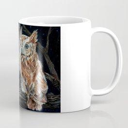 young love on a starry night - screech owls Coffee Mug
