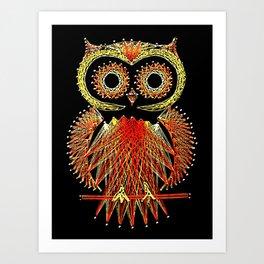 String Art Owl Art Print