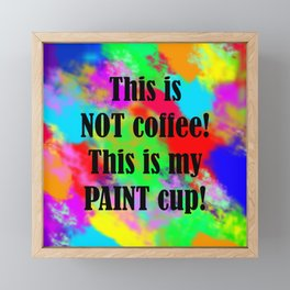 Painter's Cup Framed Mini Art Print