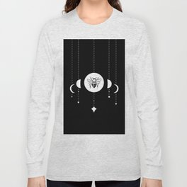 Bee & Moon Phases Long Sleeve T-shirt