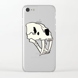 Rose Tiger Skull White Clear iPhone Case
