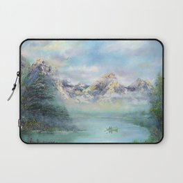 Morning in mountains. mountain landscape Laptop Sleeve