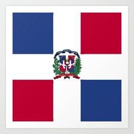 Dominican Republic flag emblem Art Print