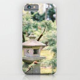 Japanese Zen Garden Stone Lamp Post | Kyoto Travel | Japan Wanderlust Photography iPhone Case