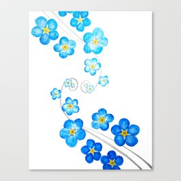 blue forget me not watercolor 2017 Canvas Print