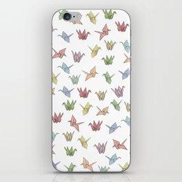 Origami Cranes iPhone Skin