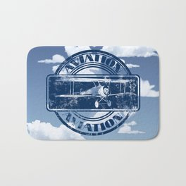 Retro Aviation Art Bath Mat