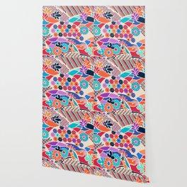 African Garden, Abstract Flowers Wallpaper