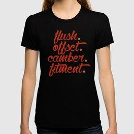 flush offset camber fitment v1 HQvector T-shirt