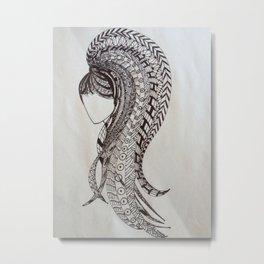 Rapunzel's hairdo Metal Print