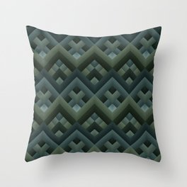 Waves - dark Throw Pillow