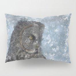 Contemplation - Great Grey Owl Portrait Pillow Sham