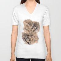 fairies V-neck T-shirts featuring Fairies  by MinaSparklina