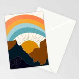 Rainbow mountain Stationery Cards
