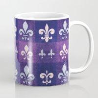 fleur de lis Mugs featuring Fleur de lis #1 by Camille